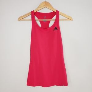 Adidas Climate Red Racer Back Athletic Tank Top